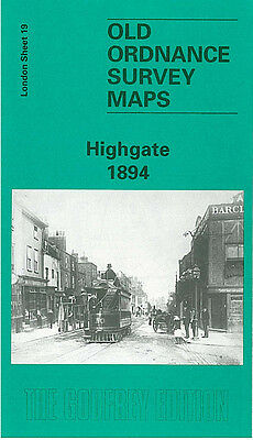 Old Ordnance Survey Map Highgate 1894 Archway Road Hampstead Lane Crouch End