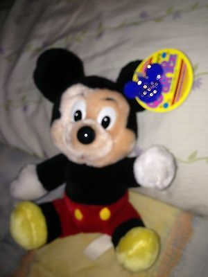 Walt Disney Mickey Mouse Vintage Plush World on Ice with Tag 8 inch