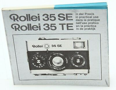 """Rollei 35SE, TE """" In Practical Use"""" Camera Instruction Book / Manual  #364320"""