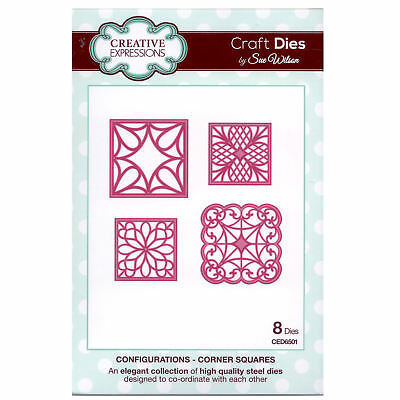 Craft Dies ced6501 Sue Wilson Konfigurationen Kollektion - Ecke Quadrate