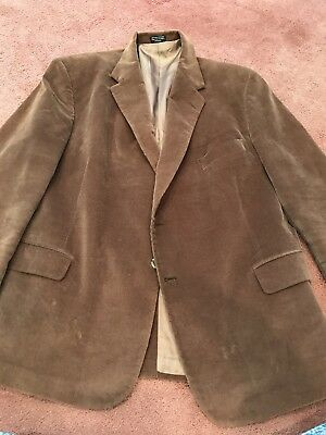 mens sports coat size 50 regular Blazer Spirts Coat Dress Causal Brown Corduroy