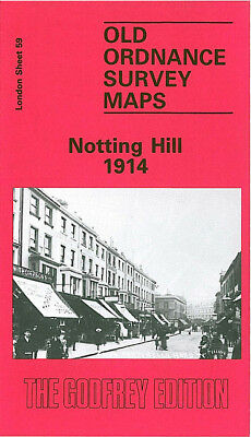 Old Ordnance Survey Map Notting Hill 1914 Hammersmith Paddington Ladbroke Grove
