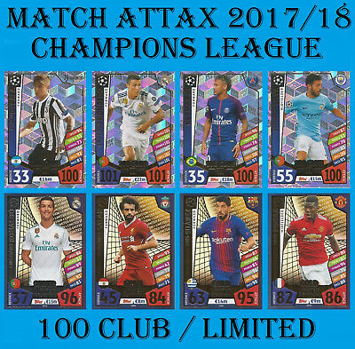Match Attax Champions League 2017/18 100 CLUB LIMITED EDITION Card 2018