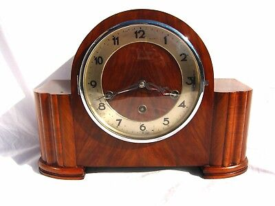 Antique Art Deco Mantel Clock By Gufa Of Germany Quality Made Westminster Chimes