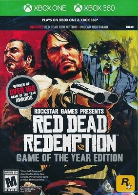 Red Dead Redemption Game of the Year Edition Xbox One 360 BRAND NEW SEALED