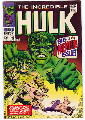 Hulk 102, F (6.0), 1968 Marvel, 1St Issue Of 2Nd Series (Frm. Tales To Astonish)