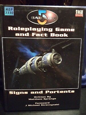 Babylon 5 RPG Game Hard Cover Book (Mongoose Publishing, 2003) Signs & Portents