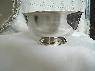 Reed & Barton Revere red enamel silver bowl 25th anniversary 1993 Nice bowl!