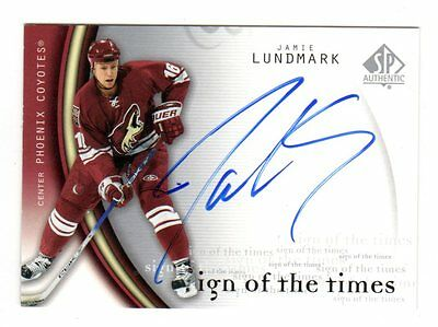 Jamie Lundmark Nhl 2005-06 Sp Authentic Sign Of The Times (Phoenix Coyotes)