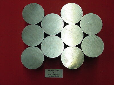 "10 Pieces 2"" ALUMINUM 6061 SOLID ROUND ROD 6"" long CUT NEW Lathe Bar Stock 2.00"""