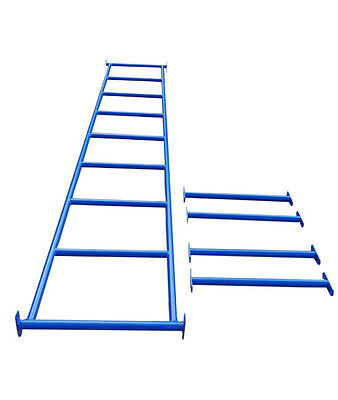 MONKEY BARS WITH 4 RUNGS - BLUE Climbing Cubby House Playground Equipment