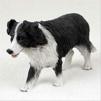 Border Collie Dog Hand Painted Collectable Figurine Statue