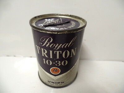 Union 76 Royal Triton Oil Tin Lito Advertising Oil Can Bank California