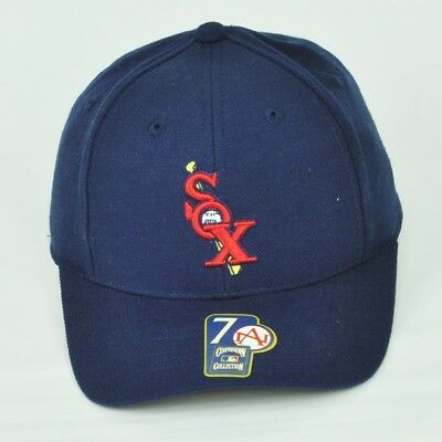 82bb517a607 MLB Chicago White Sox American Needle Navy Blue Hat Cap Curved Bill Fitted 7