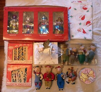 17 Vintage Pig Christmas Items And Other Pig Items   # 3