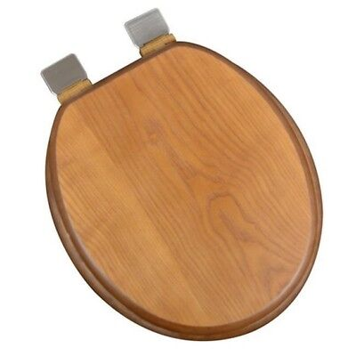 Astonishing Decorative Wood Round Front Toilet Seat With Chrome Hinges Andrewgaddart Wooden Chair Designs For Living Room Andrewgaddartcom