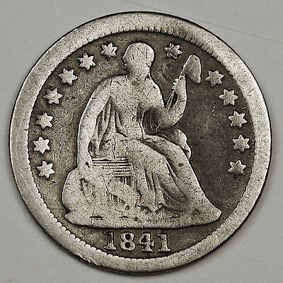 1841-o Liberty Seated Half Dime.  Good.  104623