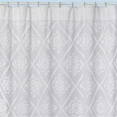 Creative Bath S1215WH Belle Shower Curtain