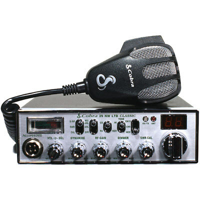 Mobile CB Radio With Dynamike Gain Control And SWR Antenna Calibration And