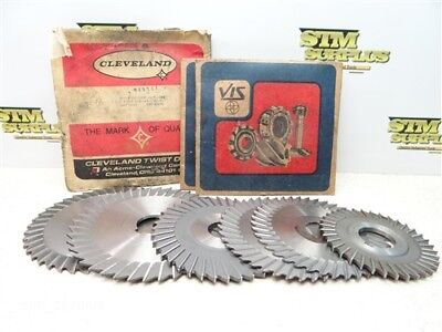 """6Pc Side Chip Slitting Slotting Saws 3/32"""" To 7/32"""" Widths 1"""" & 1-1/4"""" Bores"""