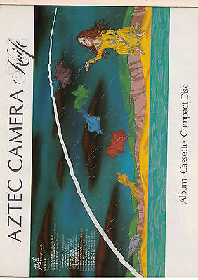 "1984 Aztec Camera ""Knife"" Record Album & UK Tour Vintage Print Advertisement"