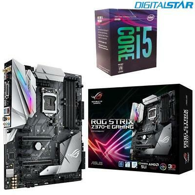 ASUS ROG Strix Z370-E GAMING WiFi + Intel Core i5-8600K DIY Combo PC Upgrade Kit