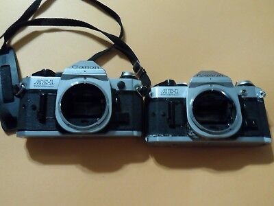 Lot of Two Canon AE-1 Bodies **PARTS** As is non working