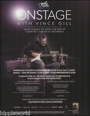 Guitar Center Presents Onstage with Vince Gill contest ad 8 x 11 advertisement