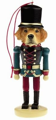 GOLDEN RETRIEVER Dog Soldier Holiday NUTCRACKER ORNAMENT