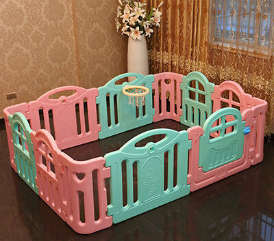 Baby Kids Playpen Security Foldable Panels Indoor Toddler Play Fence 12 PCs.