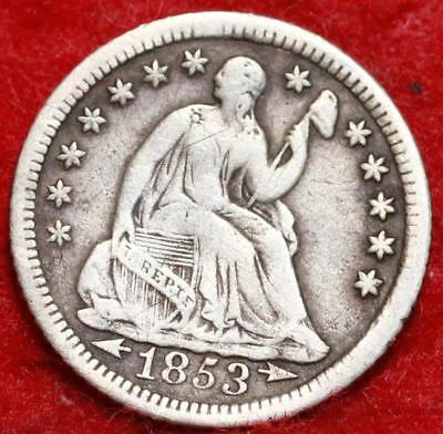1853-O New Orleans Mint Silver Seated Liberty Half Dime Free S/H