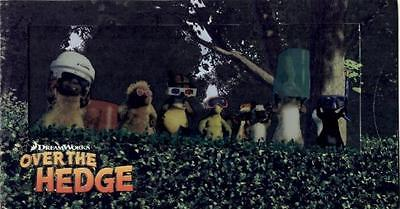 Over the Hedge Cybercene 3D cel promo collectible - 2006 Dreamworks