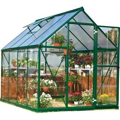 Palram HG5508G Nature Hybrid 6 x 8 ft. Greenhouse, Green