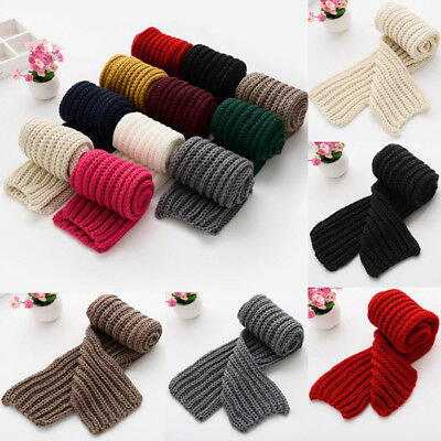 Kids Toddler Baby Boy Girl Winter Long Scarf Neck Warm Knit Scarves Neckerchief