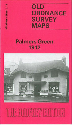 Old Ordnance Survey Map Palmers Green 1912