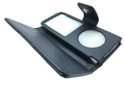 Black PU Leather Stylish Magnetic Closer Flip Case Cover For Apple iPod Nano 4th