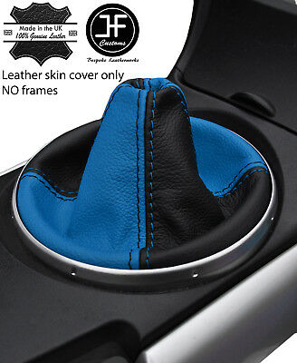 WHITE STITCHING TOP GRAIN REAL LEATHER MANUAL GEAR GAITER FITS JUKE 2010-2016