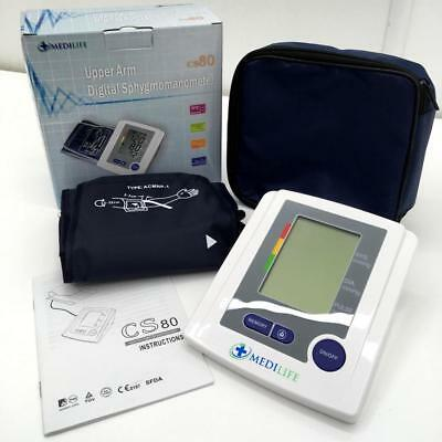 Medilife Upper Arm Digital Blood Pressure Monitor w/ Intellisense + 99 Memory