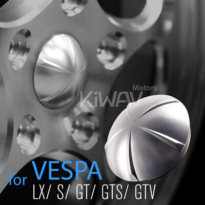 VAWiK CNC Anodizing Aluminum Wheel Hub nut cover silver for Vespa GTS GTV