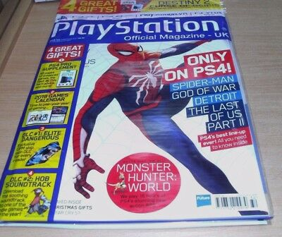 Playstation Official magazine UK #143 CHRISTMAS 2017 + PS4 Pro Supplement & more