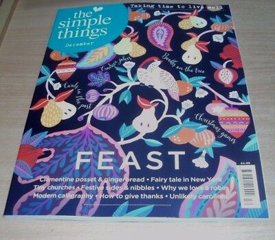 The Simple Things magazine #66 DEC 2017 Tiny Churches, Modern Calligraphy & more