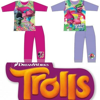 Girls Officially Licensed Dreamworks Trolls Long Pyjama Set BNWT. Age 4-10. (28)
