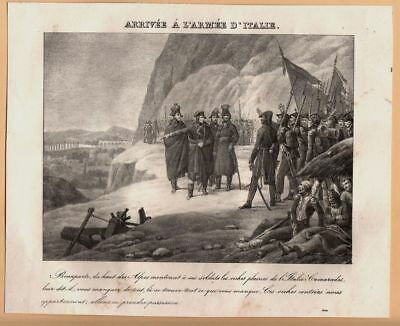 Napoleon, Ankunft der Armee in Italien, Lithographie ca. 1830