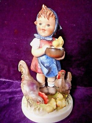 Goebel Hummel Figurine Feeding Time #199/i Tmk 6  Mint Condition