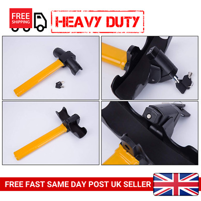 Anti-Theft Vehicle Security Rotary Steering Wheel Lock-High Visibility
