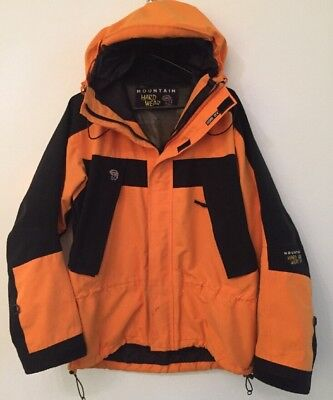 Men's MOUNTAIN HARDWEAR Gore-Tex Parka Jacket / Coat Size L Large Orange & Black