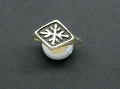 Medieval Viking period Silver ring with simbol