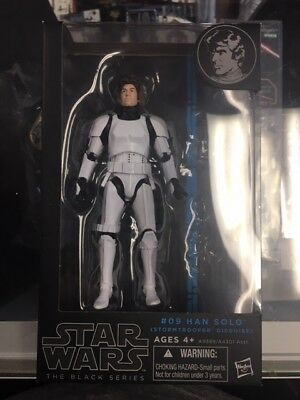 Star Wars Black Series 6-Inch Han Solo in Stormtrooper Hasbro MISSING ITEMS JC