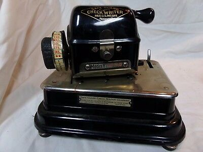 antique check writer machine safe guard model Y