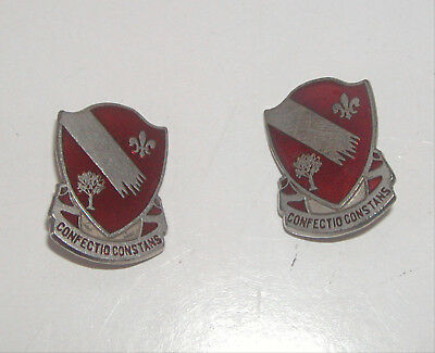 Vintage Military WWII US Army Engineer Bn Sterling Insignia Unit Crest Pin (s)